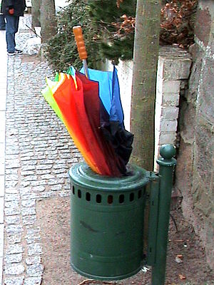 an umbrella that no ready for use
