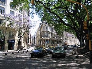 Español: Avenida Santa Fe y Marcelo T. de Alve...