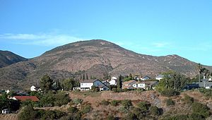 Cowles Mountain as seen from San Diego, taken ...