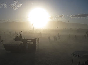 English: Dust Storm in Black Rock Desert, Neva...