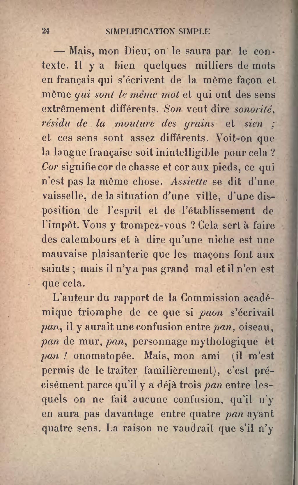 Y Aurait-il Orthographe : aurait-il, orthographe, Page:Faguet, Simplification, Simple, L'orthographe,, 1905.djvu/30, Wikisource