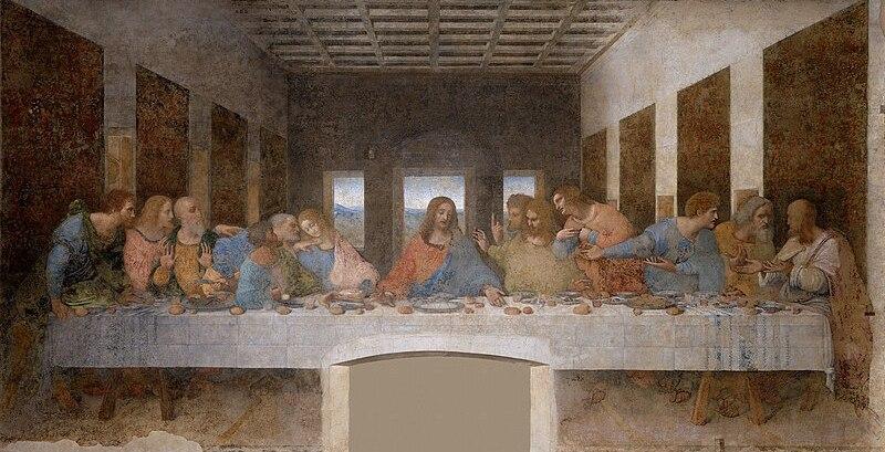 Das letzte Abendmahl (Quelle: Wikipedia. public domain)