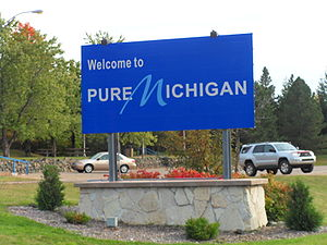 English: Michigan entrance sign