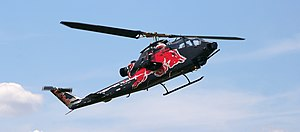 An AH-1 Cobra helicopter, property of Red Bull...