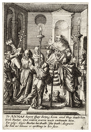 Wenceslas Hollar - Jesus before Annas 2