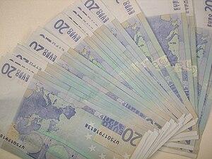 English: 20 Euro banknotes Français : 20 bille...