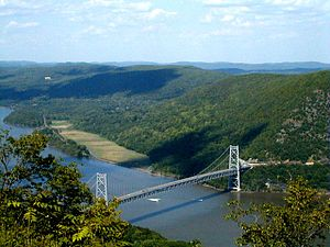 Bear Mountain Bridge from the top of Bear Moun...