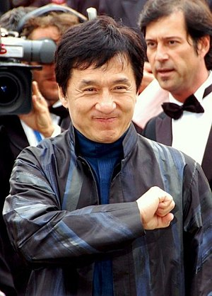 Jackie Chan at the Cannes Film festival.