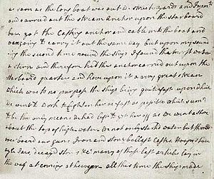 Manuscript of James Cook's Journal on the Ende...