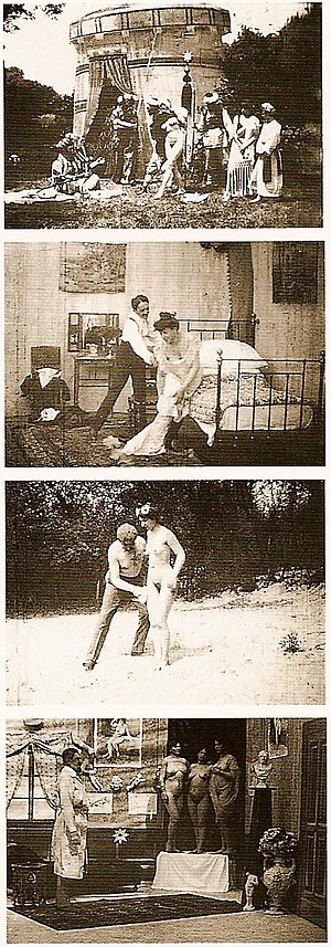 Images from early Austrian erotic films by Joh...