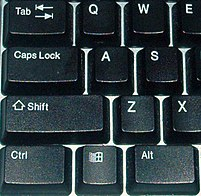 Tab key on a standard Windows keyboard