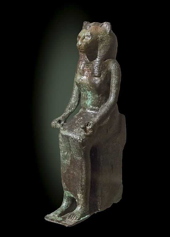 FileLabit  The goddess Bastet Bronze statuette Late