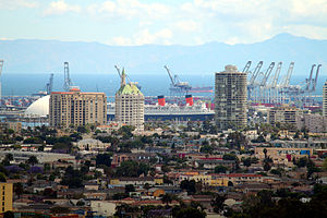 A view from Signal Hill of Long Beach's most f...