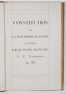 Constitution Du 22 Frimaire An Viii : constitution, frimaire, Constitution, Fructidor, Wikipédia
