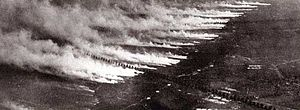 A poison gas attack using gas cylinders in Wor...