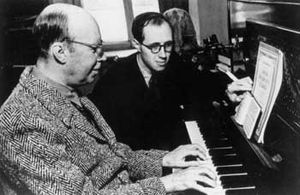 English: Picture of Serguei Prokofiev with Ros...