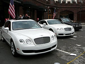 Left to right: Continental Flying Spur, Contin...