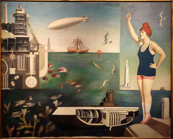 File Sea Harue Koga 1929 Oil Canvas - National Museum Of Modern Art Tokyo Dsc06613
