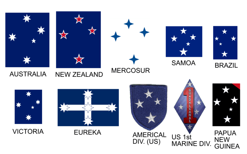 File:Southern cross appearing on a number of flags.PNG