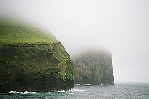 English: Ystiklettur cliffs, northeasternmost ...