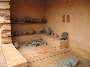 A reconstructed Israelite house, Monarchy peri...