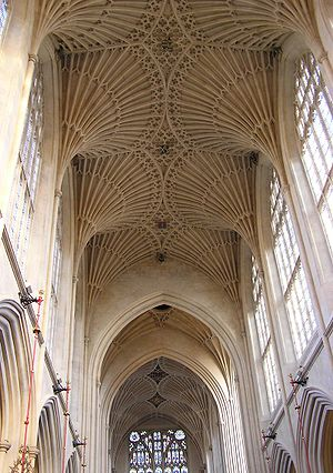 Fan Vault, Bath Abbey, the vault by Virtue is ...