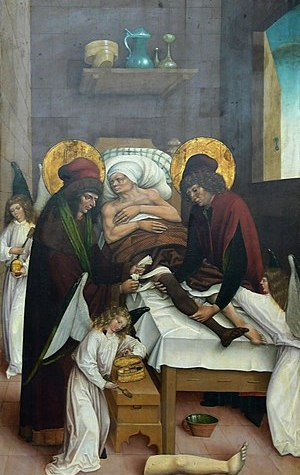 Legendary transplantation of a leg by Saints C...