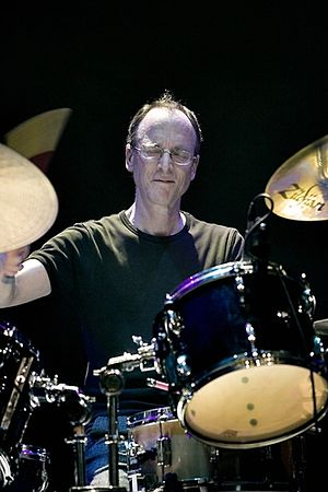 English: Chris Cutler with the Peter Blegvad T...