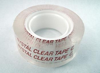 English: clear adhesive tape Polski: przezrocz...