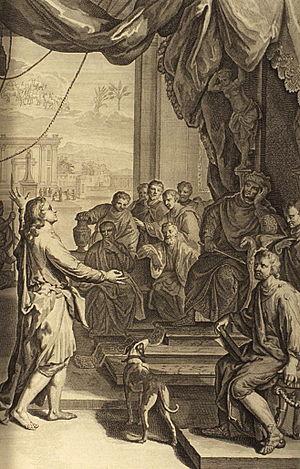 Figures 039 Joseph Explains Pharaoh's Dream to Him