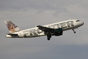 English: Frontier Airlines N929FR at FLL.
