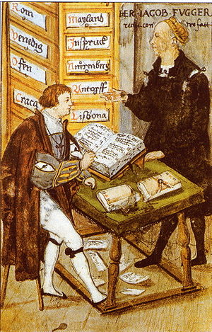 office of Jacob Fugger; with his main-accounta...