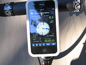 GPS navigation solution running on a smartphon...