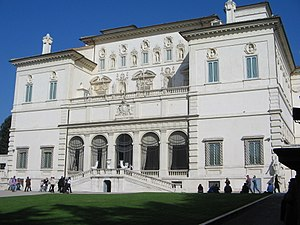The Villa Borghese, Rome, houses the Galleria ...