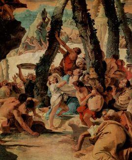 La recolección del maná, G. F Tiepolo, 1738