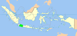 Location of West Java in Indonesia