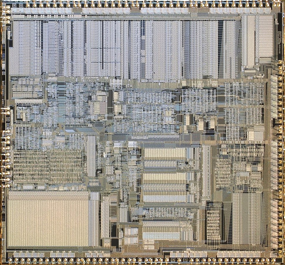 hight resolution of intel a80386dx 20 cpu die image