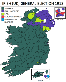 Image result for 1918 election map ireland