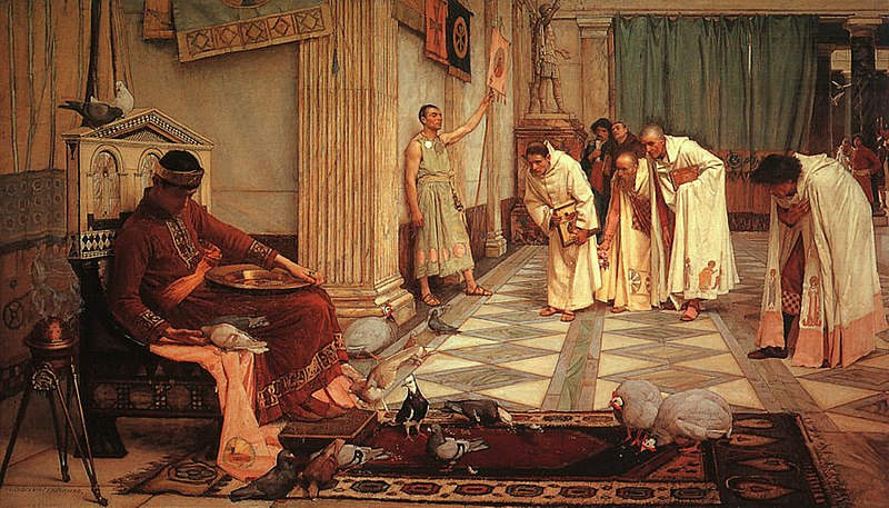 File:John William Waterhouse - The Favorites of the Emperor Honorius - 1883.jpg