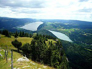 English: Vallée de Joux, Lake Joux and lake Br...