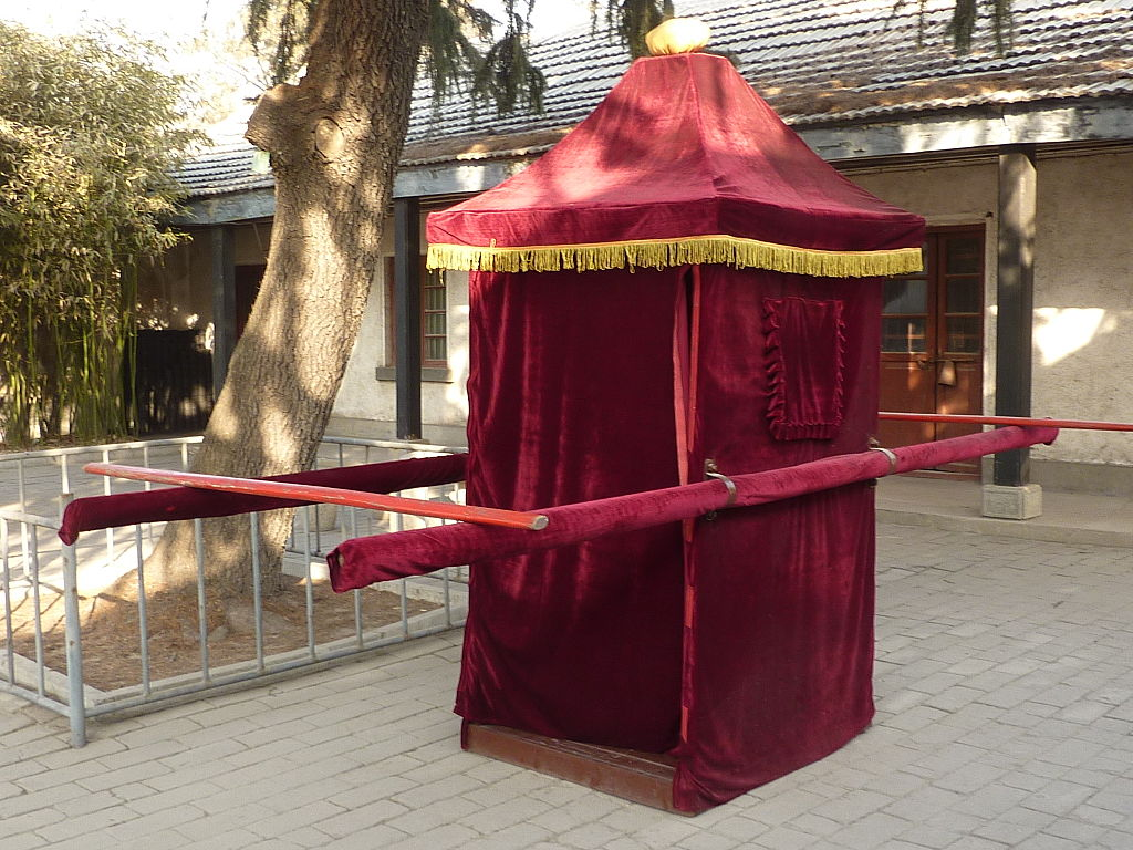 chinese wedding sedan chair white cover file mencius mansion palanquin p1050942 jpg
