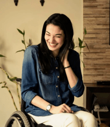 wheelchair meaning in urdu gas fire pit sets with chairs muniba mazari wikipedia