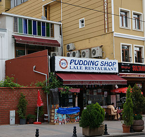 English: The Pudding Shop restaurant, Istanbul.
