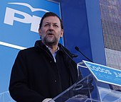 Mariano Rajoy during a party meeting in Bilbao, 2005