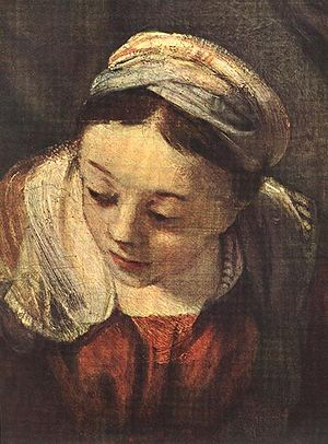 Rembrandt - The Holy Family (detail) - WGA19129