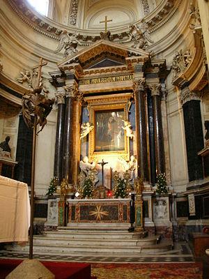 Main Altar, Santa Maria in Montesanto, Rome De...