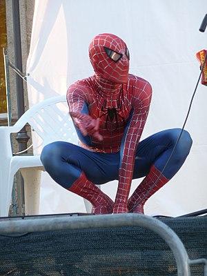 Spiderman en el Parque Warner en 2010