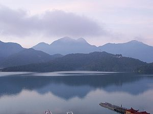 A view of Sun Moon Lake
