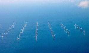 's wind turbines in the Sound near Copenhagen ...