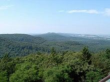 Blick vom Hermannsdenkmal auf den Teutoburger Wald